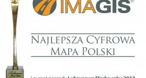 """IMAGIS nagrodzony """"Za najlepszą cyfrową mapę Polsk"""