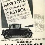 100 lat współpracy Castrol-Ford_ reklama Castrol dla Ford T