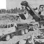 SISU K-50SS z 1961 roku z ładunkiem o masie 180 ton