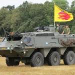 SISU XA-203 będący na wyposażeniu szwedzkiej armii