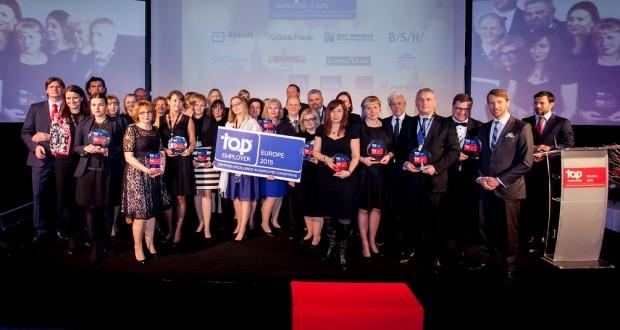Laureaci nagrody Top Employers Europe