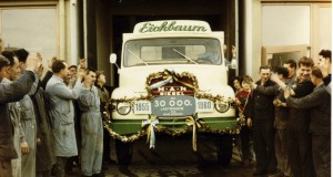 MAN Munich plant: truck no. 30000, 1960