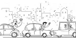 Agresywne zachowania kierowców na drodze