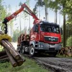 MAN TGS 18.460 do transportu drewna dłużycowego.