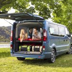 Perfect for camping trip or weekend escape: The new Opel Vivaro Life comes with onboard overnight option thanks to the third row of seats which can be easily transformed into a bed.