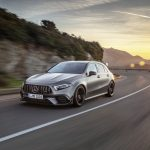Mercedes-AMG A 45 S 4MATIC+ (2019);Kraftstoffverbrauch kombiniert: 8,4-8,3 l/100 km; CO2-Emissionen kombiniert: 192-189 g/km*  Mercedes-AMG A 45 S 4MATIC+ (2019);Fuel consumption combined: 8.4-8.3 l/100 km; Combined CO2 emissions: 192-189 g/km*