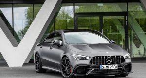 Mercedes-AMG CLA 45 S 4MATIC+ (2019);Kraftstoffverbrauch kombiniert: 8,3-8,1 l/100 km; CO2-Emissionen kombiniert: 189-186 g/km*  Mercedes-AMG CLA 45 S 4MATIC+ (2019);Fuel consumption combined: 8.3-8.1 l/100 km; Combined CO2 emissions: 189-186 g/km*