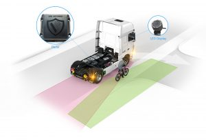 Opcja fabryczna DAF City Turn Assist jest montowana na podwoziach ciągników siodłowych 4x2 i 6x2.