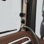 Ostrzeżenia systemu DAF City Turn Assist są widoczne na zlokalizowanym w strategicznym miejscu wyświetlaczu LED umieszczonym na słupku A w kabinie po stronie pasażera, w pobliżu lusterka bocznego.