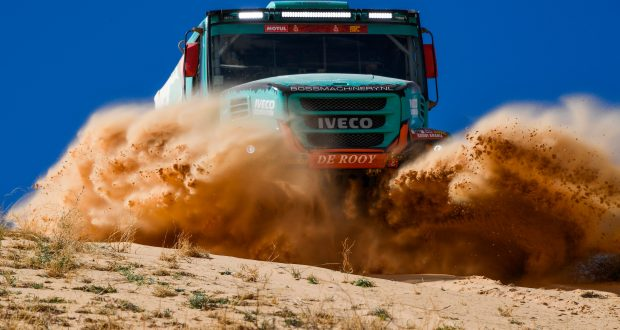 505 Van Kasteren Janus (nld), Rodewald Darek (pol), Snijders Marcel (nld), Iveco, Petronas Team de Rooy Iveco, Truck, Camion, action during Stage 5 of the Dakar 2020 between Al Ula and Ha'il, 563 km - SS 353 km, in Saudi Arabia, on January 9, 2020 - Photo Eric Vargiolu / DPPI